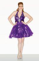 Dreamz by Riva D451 Plus Size Print Cocktail Dress image