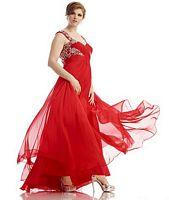 Dreamz by Riva D479 Plus Size Cap Sleeve Dress image