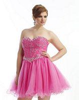 Dreamz by Riva D483 Plus Size Short Party Dress image