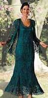 Soulmates Silk Crochet Jacket Evening Dress D7052 image