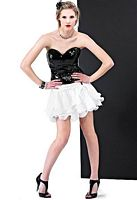 Size 6 Black-White Landa Cocktail Dress ED338 image