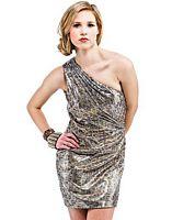 Landa Wild Metallic Cocktail Prom Dress ED342 image