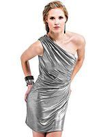 Landa Platinum Jersey One Shoulder Cocktail Dress ED345 image
