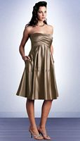 Bill Levkoff Bridesmaid Dresses Short Satin Bridesmaid Dress 370 image