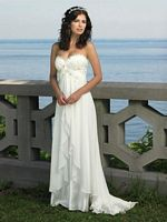 Size 12 Ivory Destinations by Mon Cheri Wedding Dress 18107 image