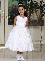Size 4 Tip Top White Flower Girl Dress 5319 image