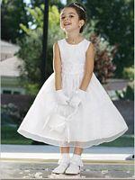 Size 4 White Tip Top Flower Girl Dress 6036 image