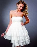 Short White Homecoming Dresses