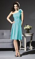 One Shoulder Flower Dessy Collection Bridesmaid Dress 2803 image