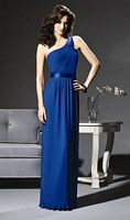 Pleated One Shoulder Dessy Collection Bridesmaid Dress 2806 image