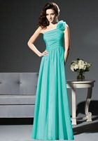 One Shoulder Flower Dessy Collection Bridesmaid Dress 2811 image