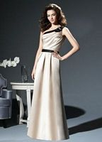Dessy Collection One Shoulder Bow Bridesmaid Dress 2812 image