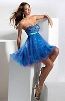 Hannah S Short Sequin Tulle Party Dress 27561 image