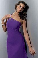 Size 12 One Shoulder Chiffon Jordan Couture Bridesmaid Dress 1112 image