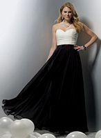 Jordan Chiffon Couture Chiffon Long Two Tone Bridesmaid Dress 1113 image