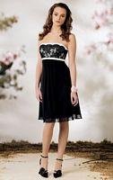 Size 8 Lace Chiffon Empire Short Jordan Bridesmaid Dress 723 image