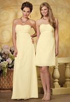 Size 6 Strapless Chiffon Jordan Bridesmaid Dress 834 image