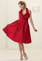 Size 6 Ruffle Halter Neck Jordan Bridesmaid Dress 950 image