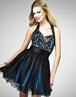 Sequined Tulle Landa Short Homecoming Party Dress EB302 image