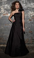 One Shoulder Long Mori Lee Angelina Faccenda Bridesmaid Dress  20101 image