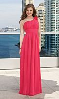 One Shoulder Long Chiffon Mori Lee Bridesmaid Dress 282 image