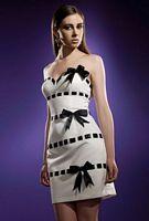Homecoming 2010 Terani Strapless Ribbon Bow Short Dress 35008H image