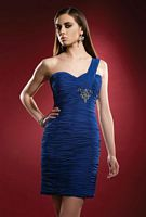 Homecoming 2010 Terani One Shoulder Ruched Short Dress 35033H image