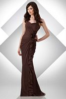 Size 14 Espresso Bari Jay Long Mermaid Bridesmaid Dress 316 image
