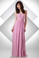 Size 12 Misty Blue Bari Jay Long Bridesmaid Dress with Ruffle 324 image