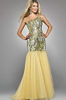 Signature by Landa Champagne Pageant Dress GE671 image