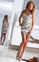 Terani Homecoming Leopard Print Cocktail Dress H1231 image