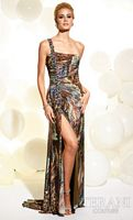Terani Animal Print One Shoulder Prom Dress JP600 image