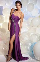 Terani One Shoulder Sweetheart Evening Dress JP607 image