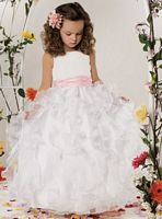 Size 2 Light Ivory Jordan Sweet Beginnings Flower Girl Dress L303F image
