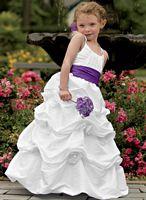 d2cd6aff44 Jordan Sweet Beginnings Flower Girl Dress with Pickup Skirt L786