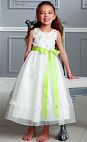 Jordan Sweet Beginnings Ankle Length Flower Girls Organza Dress L882 image
