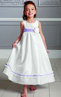 Jordan Sweet Beginnings Iridescent Taffeta Flower Girl Dress L883 image