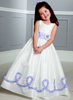 Jordan Sweet Beginnings Two Tone Swirl Flower Girls Dress L887 image