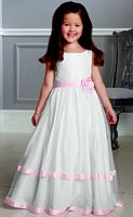 Jordan Sweet Beginnings Soft Lace Tiered Flower Girls Dress L888 image