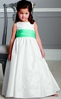 Jordan Sweet Beginnings Flower Girl Dress with Satin Waist L892 image