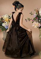 Size 4 Light Ivory Sweet Beginnings Long Flower Girls Dress L910F image