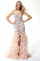 Terani P1576 Eccentric Ruffled Formal Dress with Sequins image