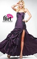 Flirt Taffeta Prom Ball Gown with Sexy Side Slit P1602 image