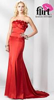 Flirt Chic and Timeless Slinky Satin Prom Dress P1610 image