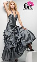 Flirt Pickup Bubble Hem Halter Prom Dress P1611 image
