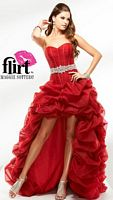 Flirt High Low Tulle Corset Prom Dress P1630 image