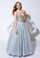Terani P1636 Oriental Embroidered Bodice Ball Gown image
