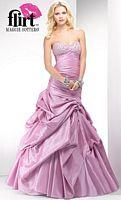 Flirt Feminine Taffeta Pickup Prom Dress P1645 image