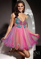 Terani Short Butterfly Prom Party Dress P187 image