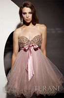 Terani Short Prom Dress with Beaded Top P188 image